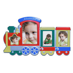 Personalized Kid's Train Picture Frame