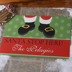 Santa Stop Here Personalized Standard Doormat