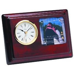 Personalized Piano Finish Photo Frame and Desk Clock