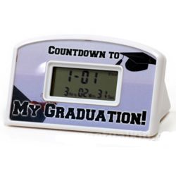 Graduation Countdown White Clock