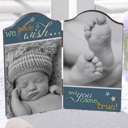 We Made a Wish Petite Photo Plaque
