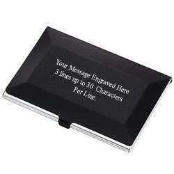 Personalized Beveled Edge Business Card Holder