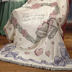 Personalized Wedding Bells Afghan Throw