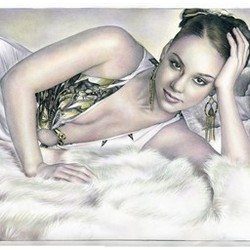 Alicia Keyes DaVinci Sketch Limited Edition Print