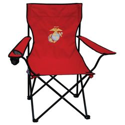 Us Marine Corps Embroidered Red Folding Chair Findgift Com