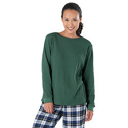 Tartan Plaid Thermal Top Pajamas for Women