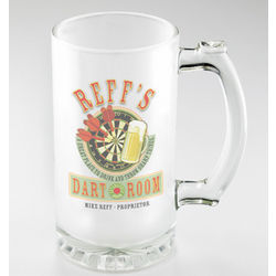 Personalized Dart Room Frosted Sports Mug