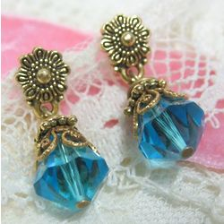 Turquoise Blue Petite Drop Earrings