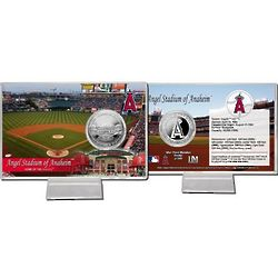Angels Stadium Silver Plate Coin Card