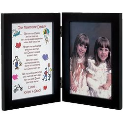 Personalized Daddy Valentine Print Frame from Two Children