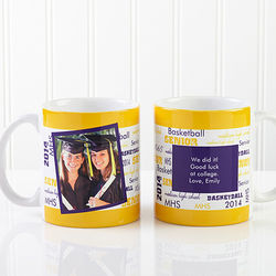 School Spirit Personalized Graduation Photo Mug