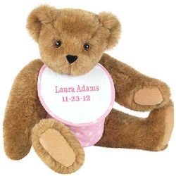 Baby Girl Teddy Bear with Bib