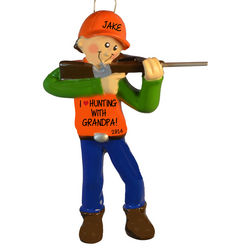 I Love Hunting with Grandpa Personalized Ornament