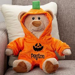 Personalized Jack-O-Lantern Teddy Bear