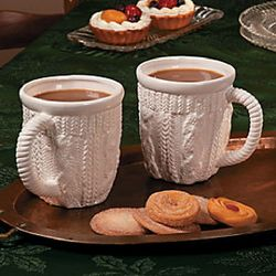 White Winter Ceramic Mugs