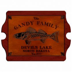 Walleye Vintage Cabin Sign Personalized
