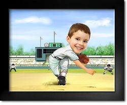 Your Photo In A Baseball Player - Pitcher Caricature