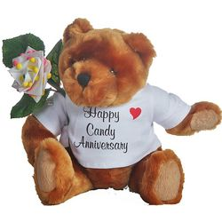 6th Anniversary Teddy Bear with Candy Rose