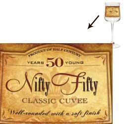 Nifty Fifty 50th Birthday Wine Glass