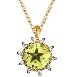 Diamond & Peridot Star Pendant