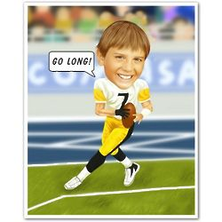 Football Player Caricature Print from Photo