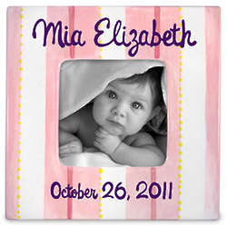 Personalized Baby Ceramic Frame