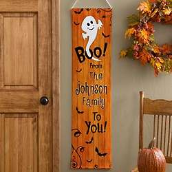 Personalized Halloween Door Banner