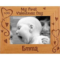 Personalized 5x7 My First Valentine's Day Horizontal Frame