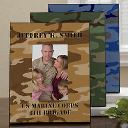 Military Camo Personalized Vertical Picture Frame
