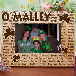 Irish Family Name Personalized Wood Picture Frame