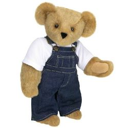 Basics Teddy Bear with Overalls