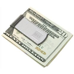 Personalized Two-Tone Gunmetal Money Clip