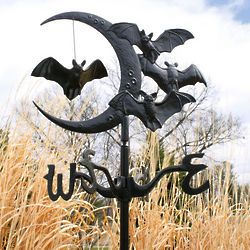 Halloween Vampire Bats or Witch Garden Weathervane