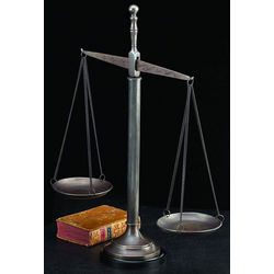 Bronzed Brass Justice Scale