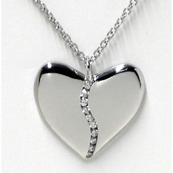 Platinum and Diamond Harmony Heart