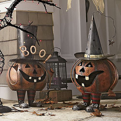 Bobble Head Pumpkin Sculpture