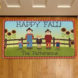 Personalized Scarecrow Family Doormat