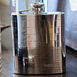 SoHo Engraved Flask