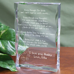 Personalized Even Though I am Little Plaque for Dad