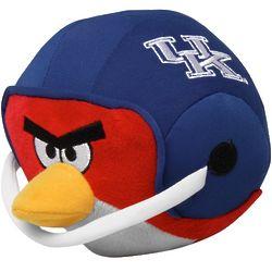 Kentucky Wildcats Angry Birds Helmet Plush