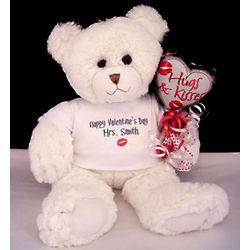 Personalized Valentine Teddy Bear for the Mrs.