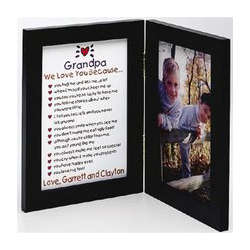 Personalized Grandparents Keepsake Photo Print and Frame