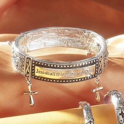 """I Can Do All Things"" Bangle Bracelet"