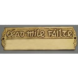Deluxe Cead Mile Failte Door Plaque