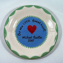 Our New Little Sweetheart Personalized Plate