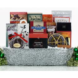 Silver Swirls Gift Basket