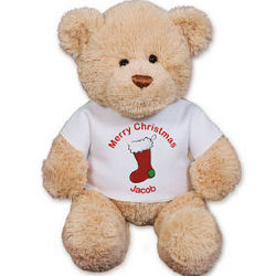 Personalized Christmas Stocking Teddy Bear