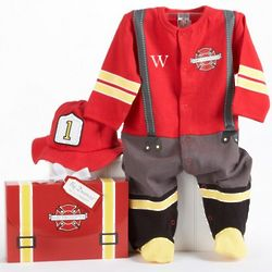 Baby Firefighter Personalized Layette Gift Set