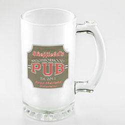 Neighborhood Pub Frosted Beer Mug