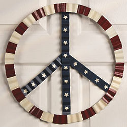 Patriotic Peace Sign Wall Decor